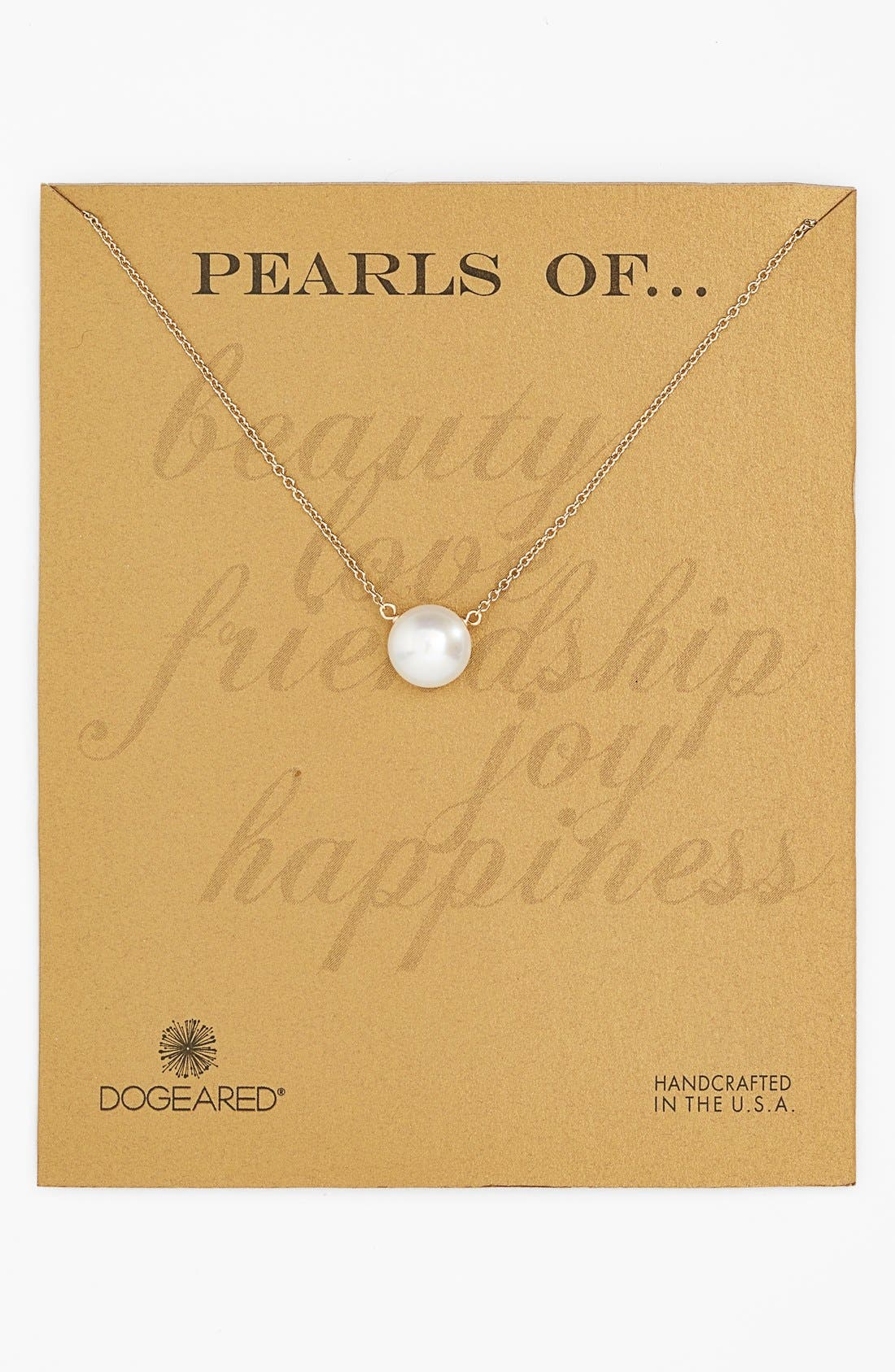 Main Image - Dogeared Freshwater Pearl Pendant Necklace