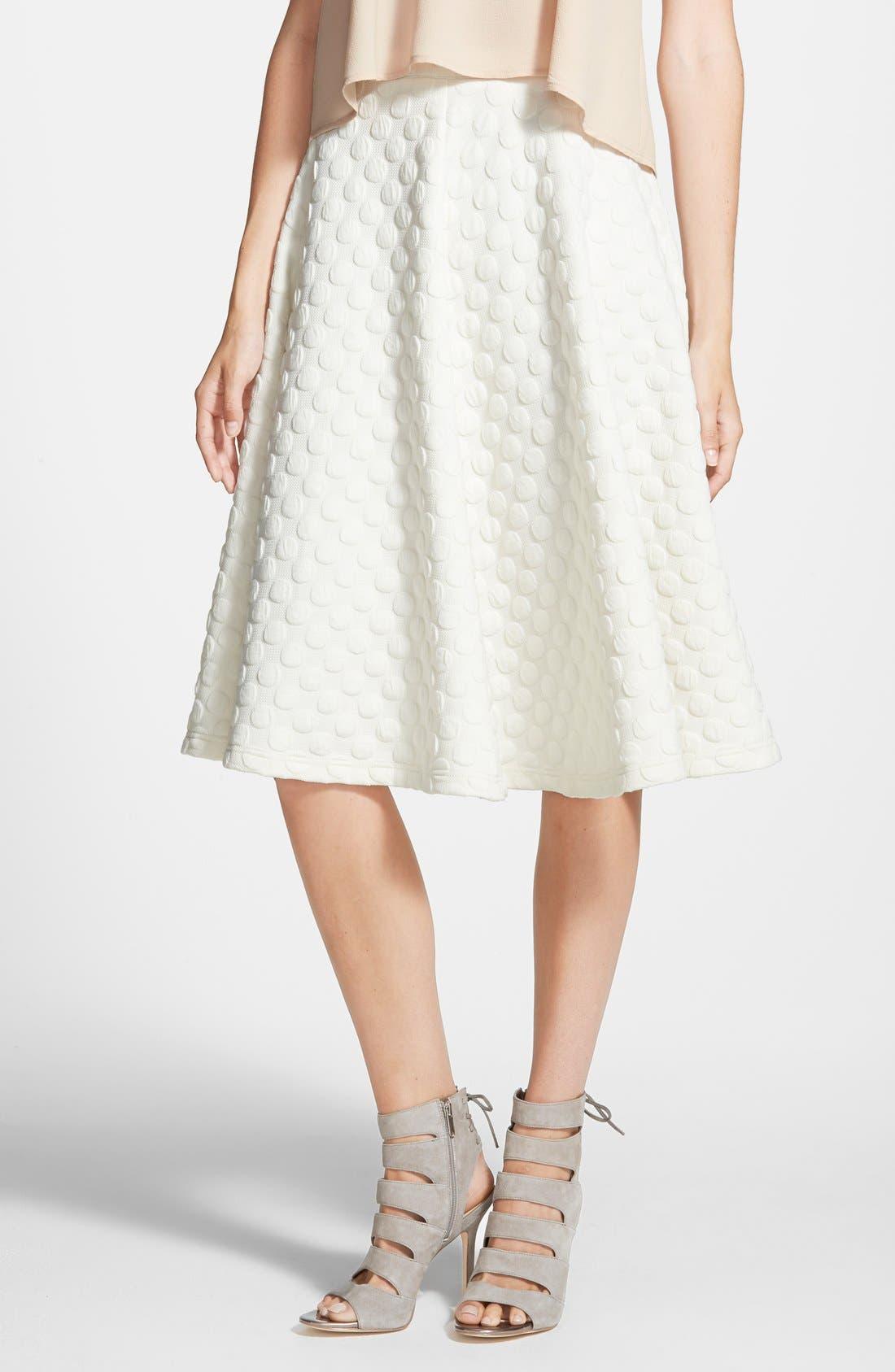 Alternate Image 1 Selected - JOA Polka Dot Midi Skirt