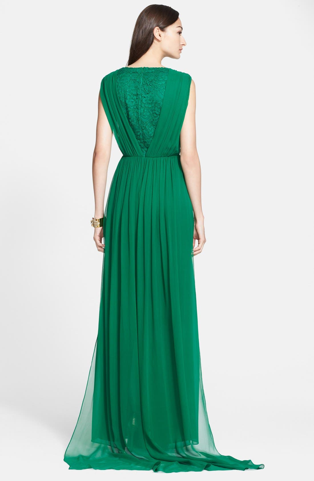 Alternate Image 2  - St. John Collection Silk Chiffon Gown