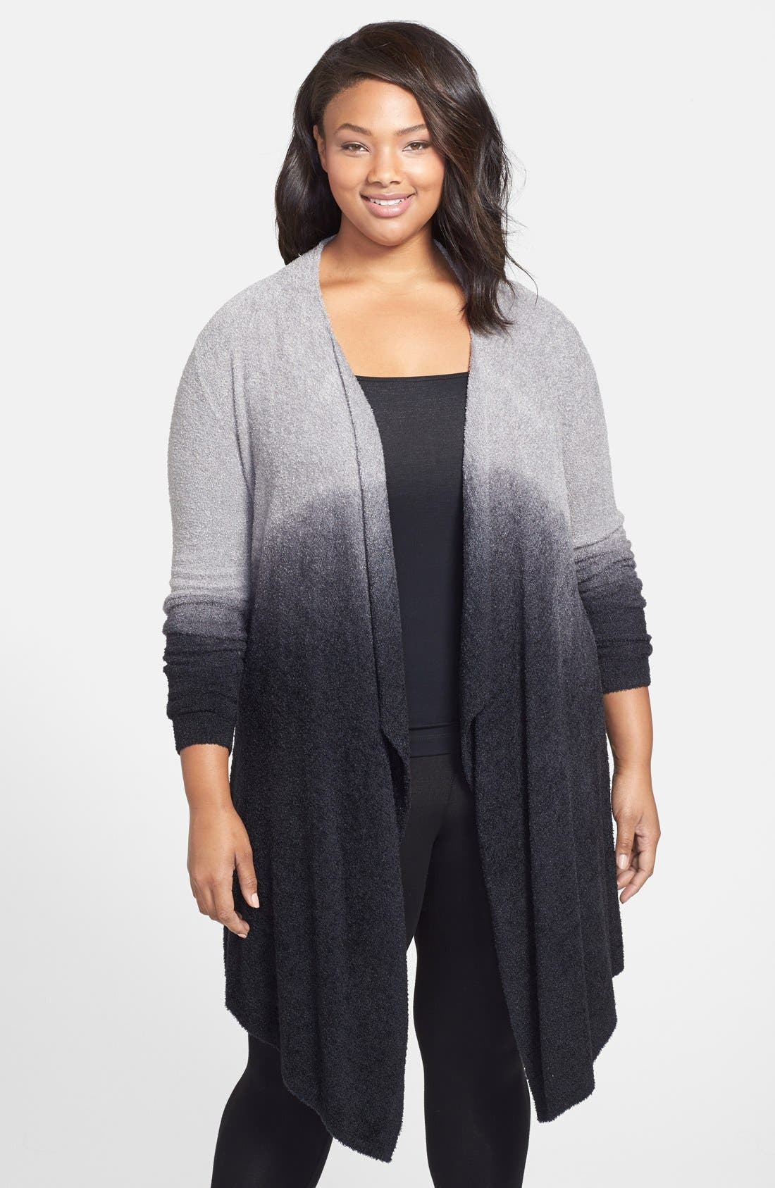 Alternate Image 1 Selected - Barefoot Dreams® CozyChic Lite® Calypso Wrap Cardigan (Plus Size) (Nordstrom Exclusive)