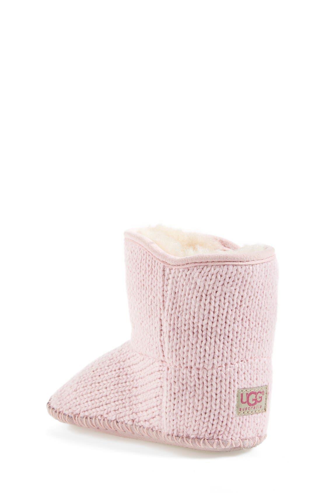 Alternate Image 2  - UGG® Purl Knit Bootie (Baby & Walker)