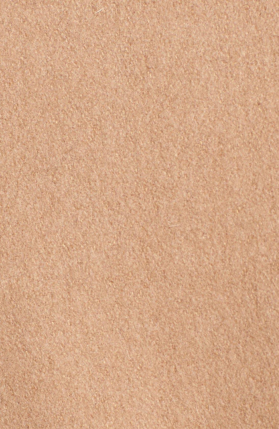 Alternate Image 3  - Via Spiga Faux Fur & Faux Leather Trim Asymmetrical Belted Coat (Online Only)