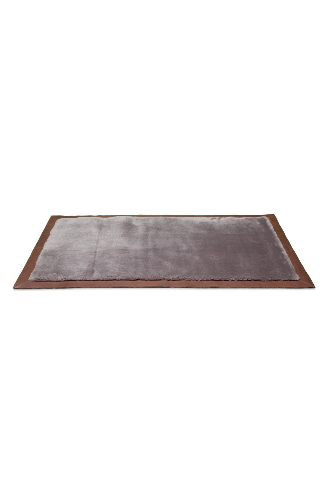 Alternate Image 1 Selected - UGG® Classic Leather Bound Rug