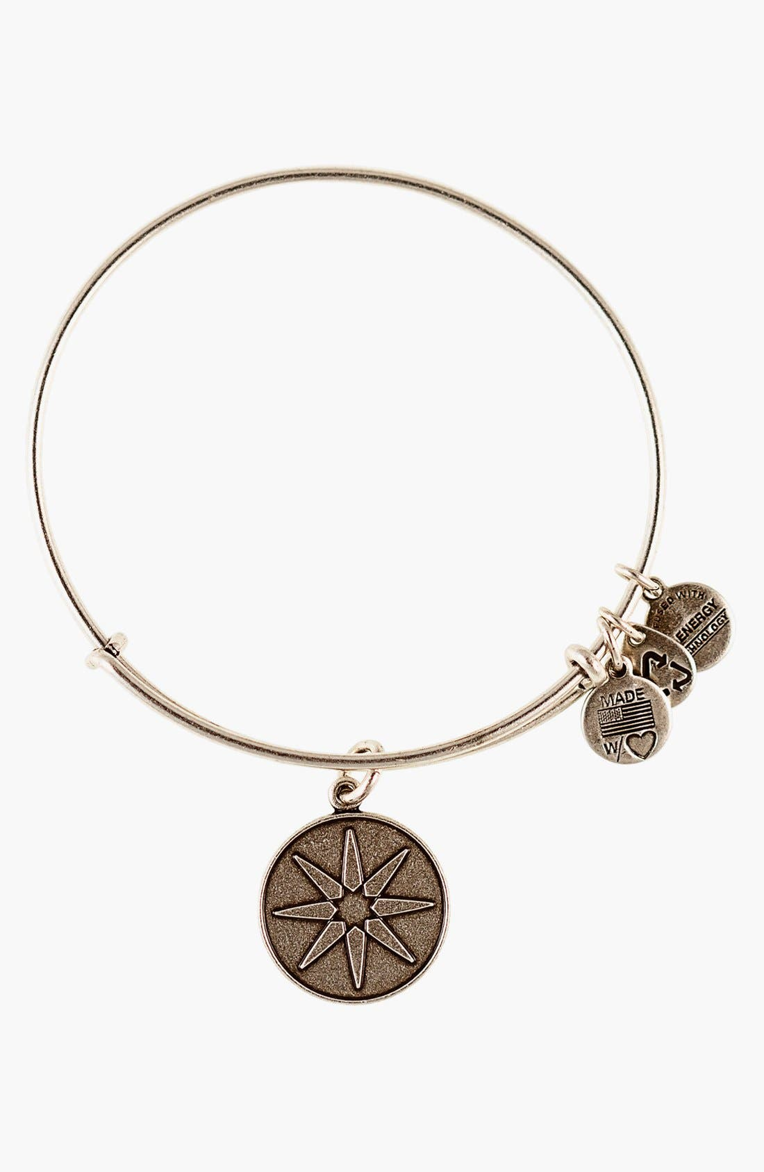 Alternate Image 1 Selected - Alex and Ani 'Star of Venus' Expandable Wire Bangle