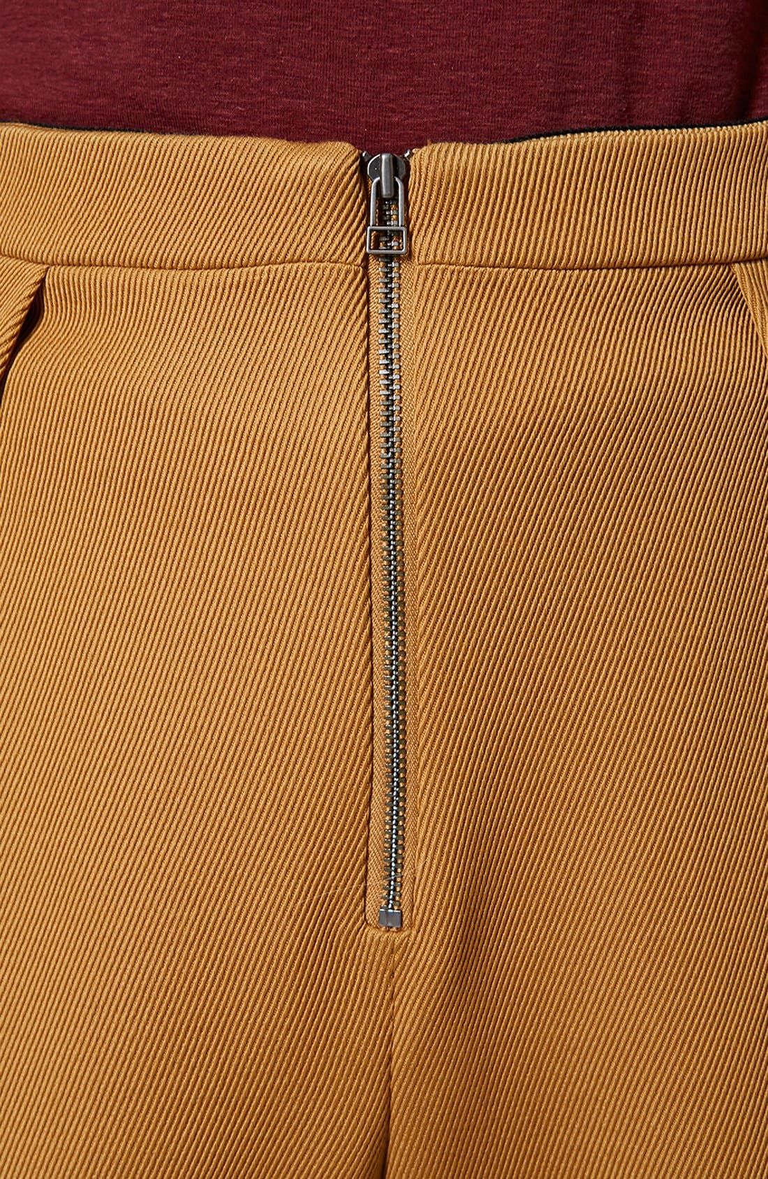 Alternate Image 4  - Topshop Unique Pleated Crop Wool Trousers