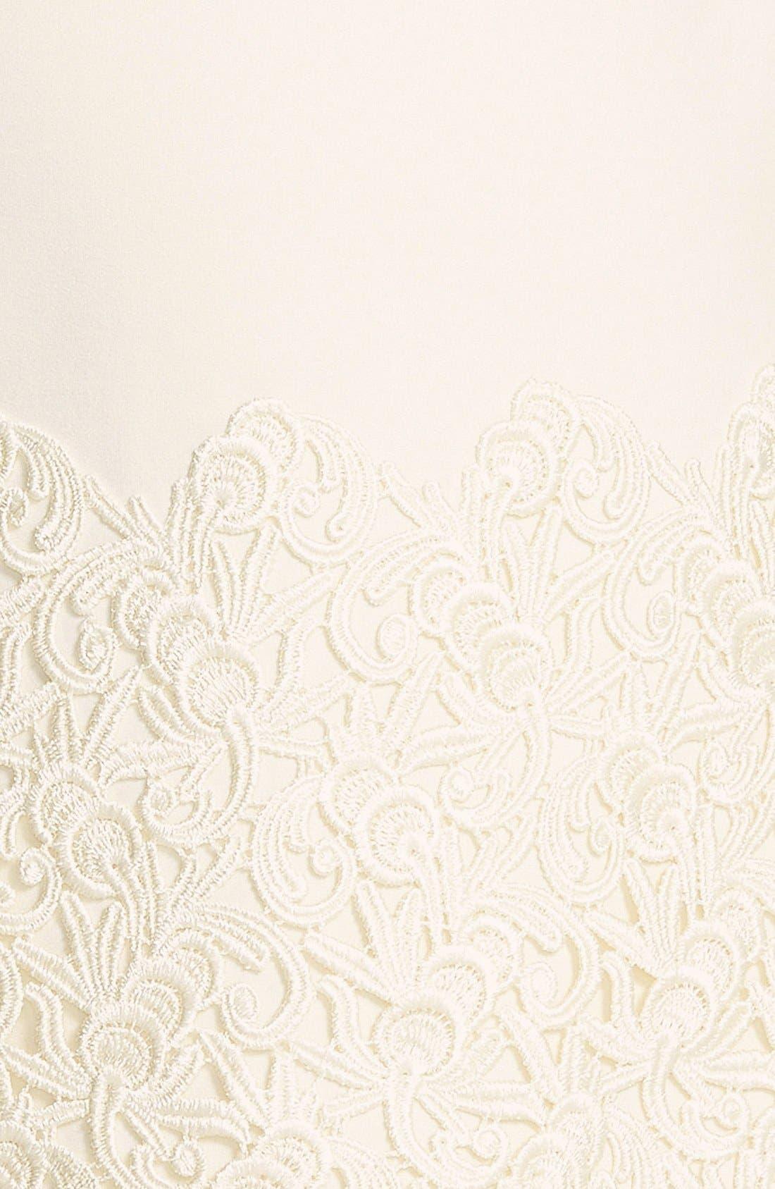 Alternate Image 4  - Taylor Dresses Ponte & Lace Shift Dress