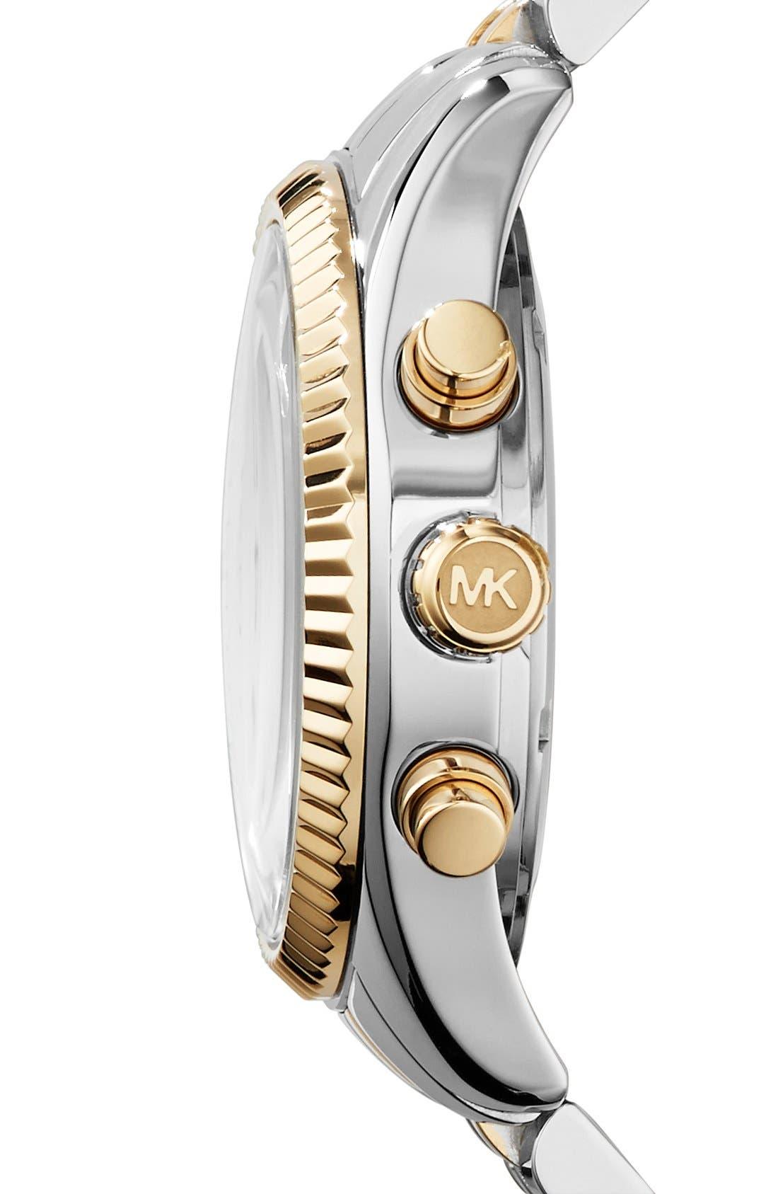 Alternate Image 3  - Michael Kors 'Lexington' Chronograph Bracelet Watch, 38mm