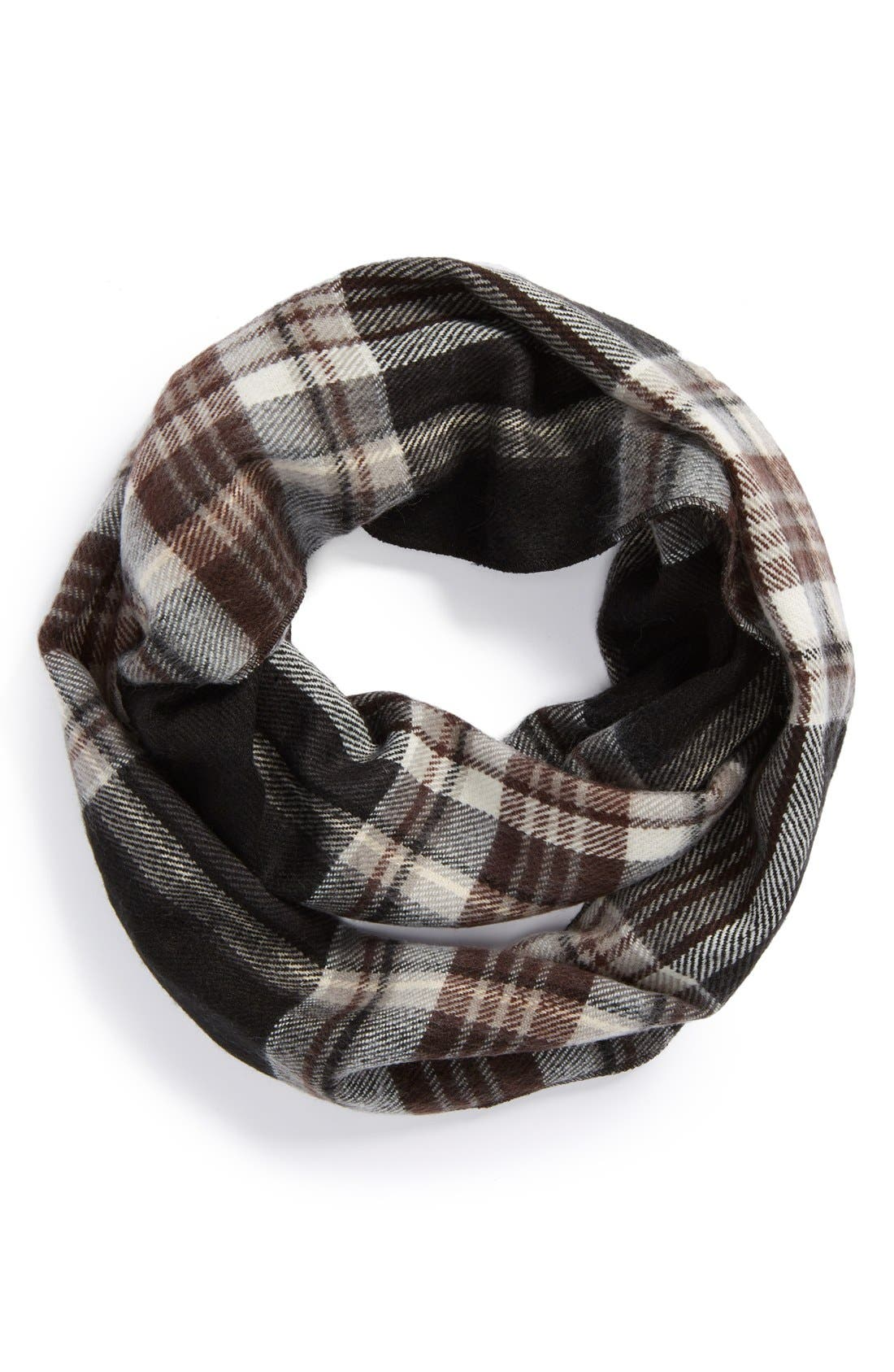 Main Image - David & Young Plaid Infinity Scarf (Juniors)