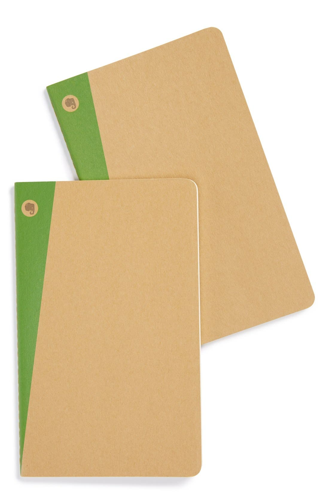 Alternate Image 1 Selected - Moleskine 'Ruled - Large' Evernote Edition Soft Cover Notebook (2-Pack)