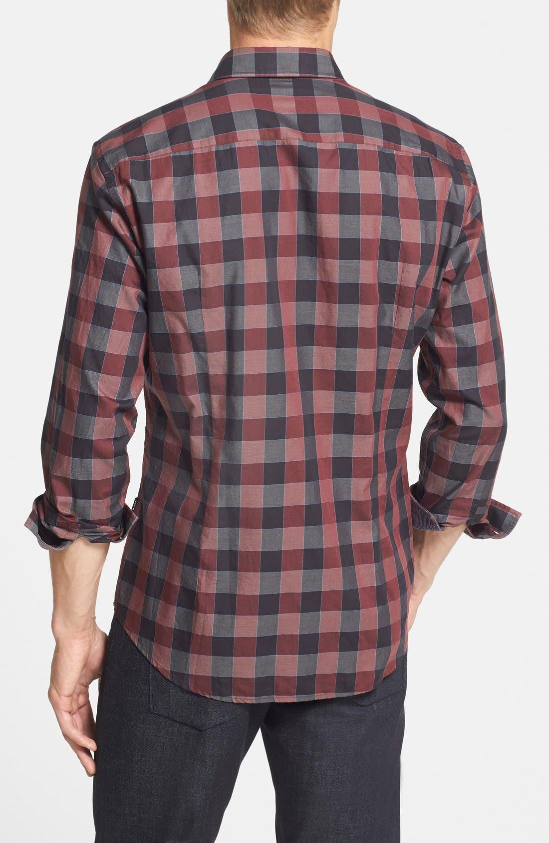 Alternate Image 2  - BOSS HUGO BOSS 'Robbie' Slim Fit Check Sport Shirt