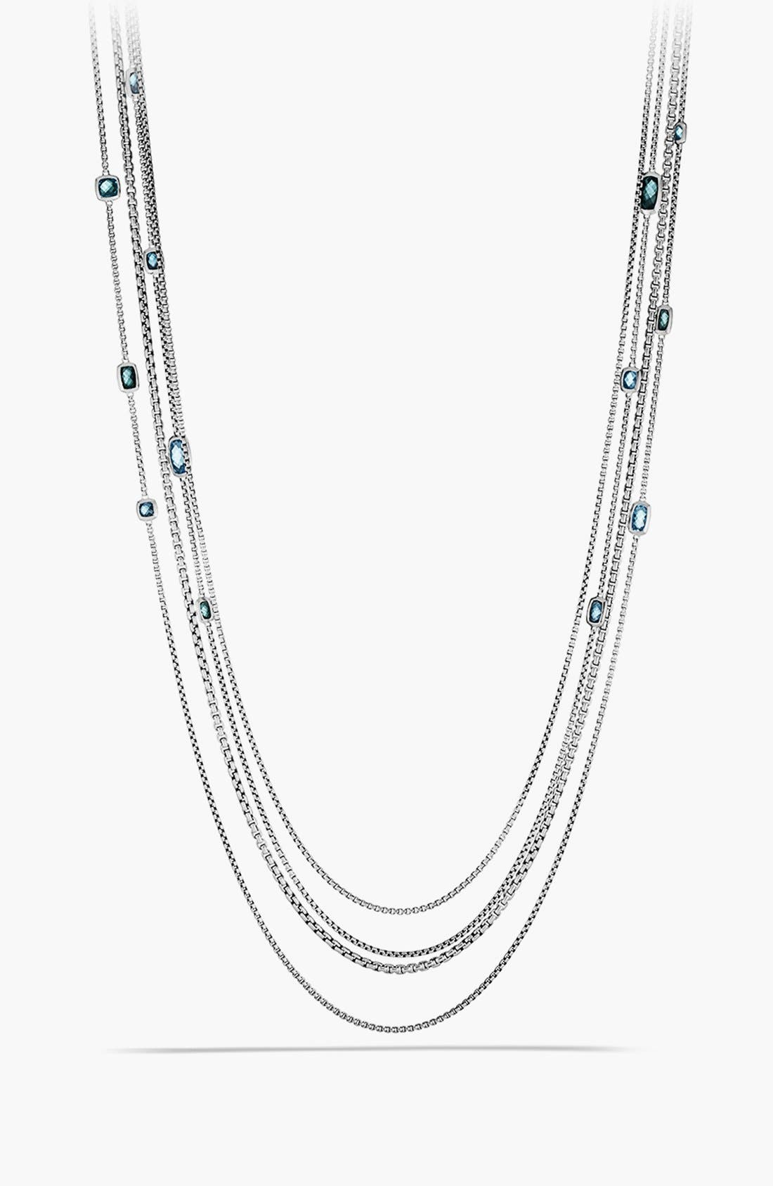 Main Image - David Yurman 'Confetti' Station Necklace with Blue Topaz and Hampton Blue Topaz