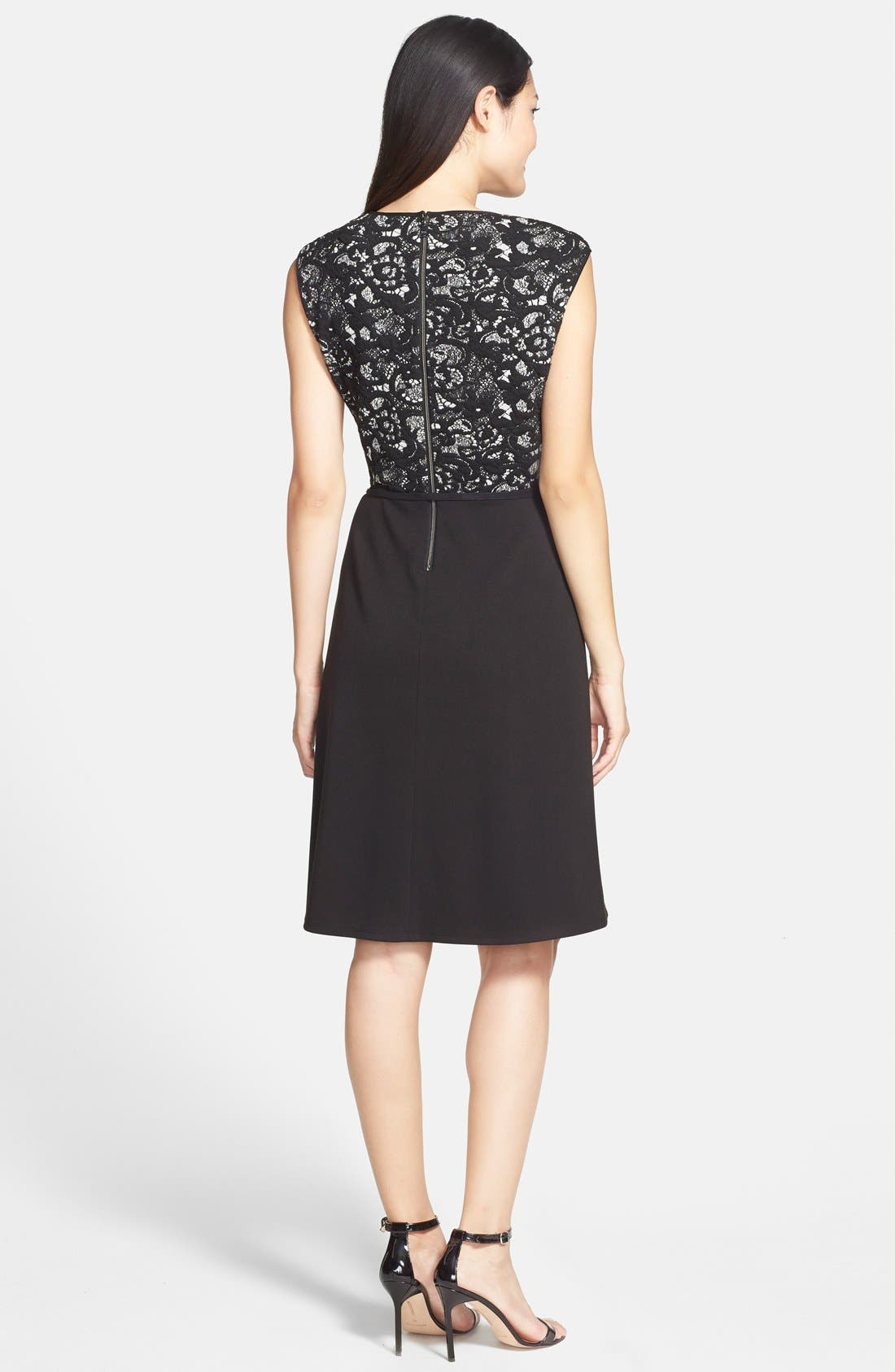 Alternate Image 2  - Marc New York by Andrew Marc Belted Knit Fit & Flare Dress
