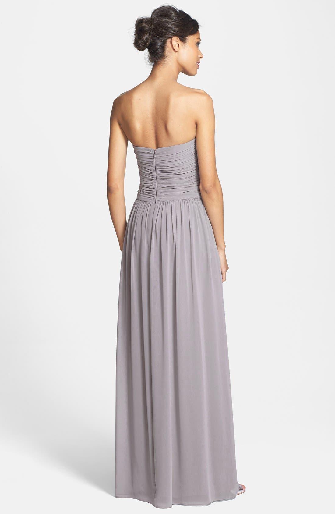 Alternate Image 2  - Donna Morgan 'Audrey' Strapless Chiffon Gown