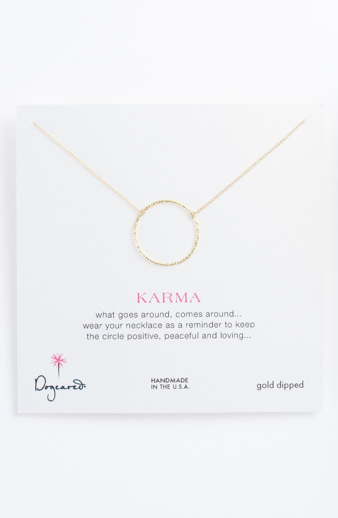 Alternate Image 1 Selected - Dogeared 'Karma Sparkle' Pendant Necklace
