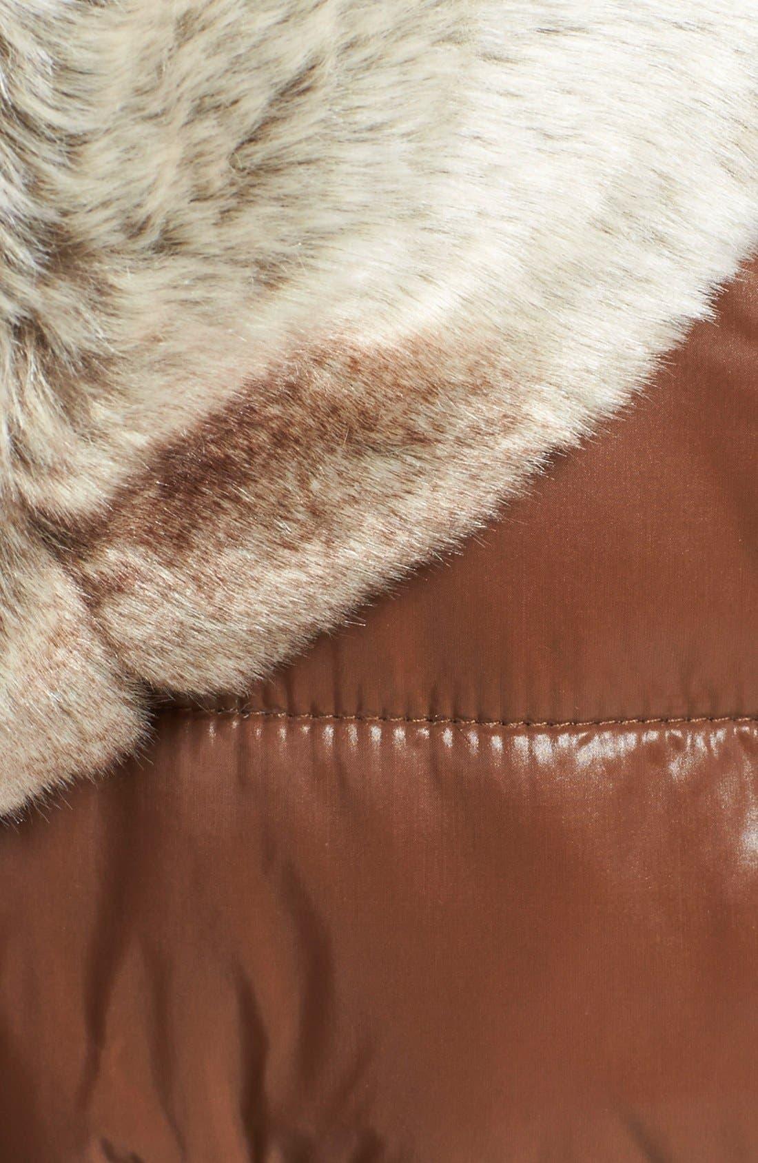 Alternate Image 3  - STELLA + LORENZO Reversible Faux Fur Hooded Down Vest
