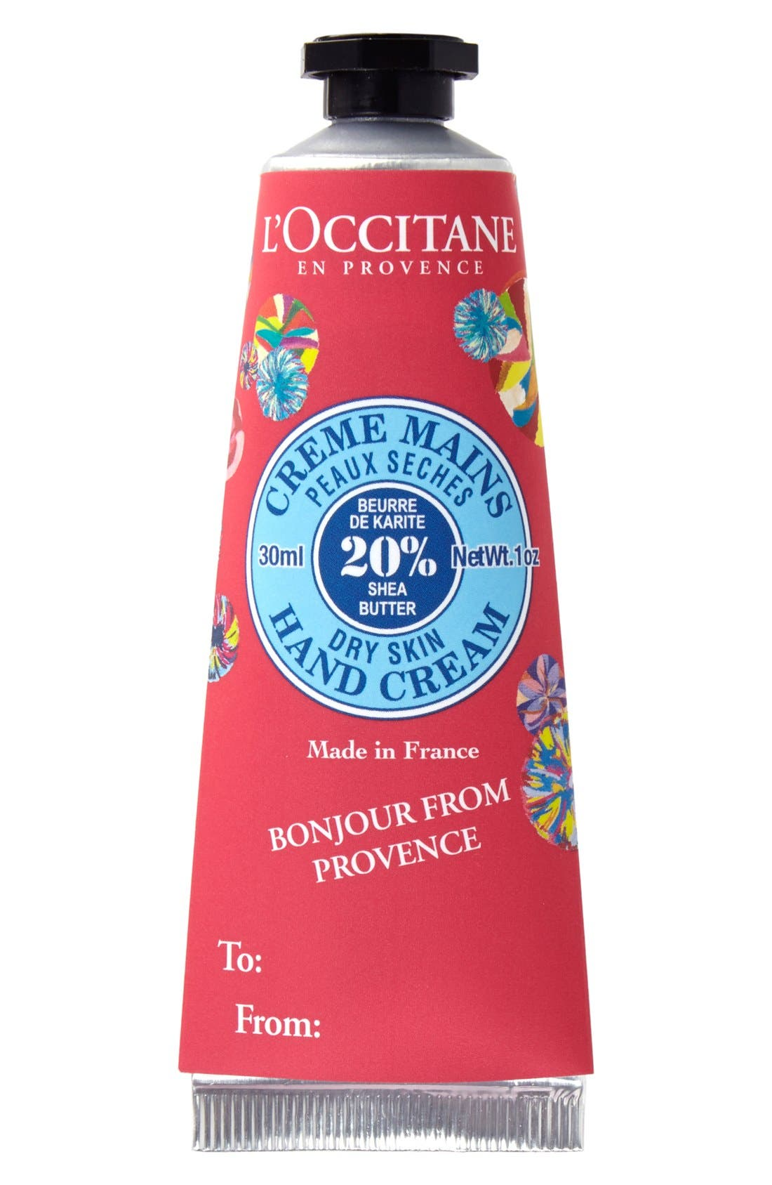L'Occitane Shea Butter Hand Cream with Removable Sleeve (1 oz.) (Limited Edition)