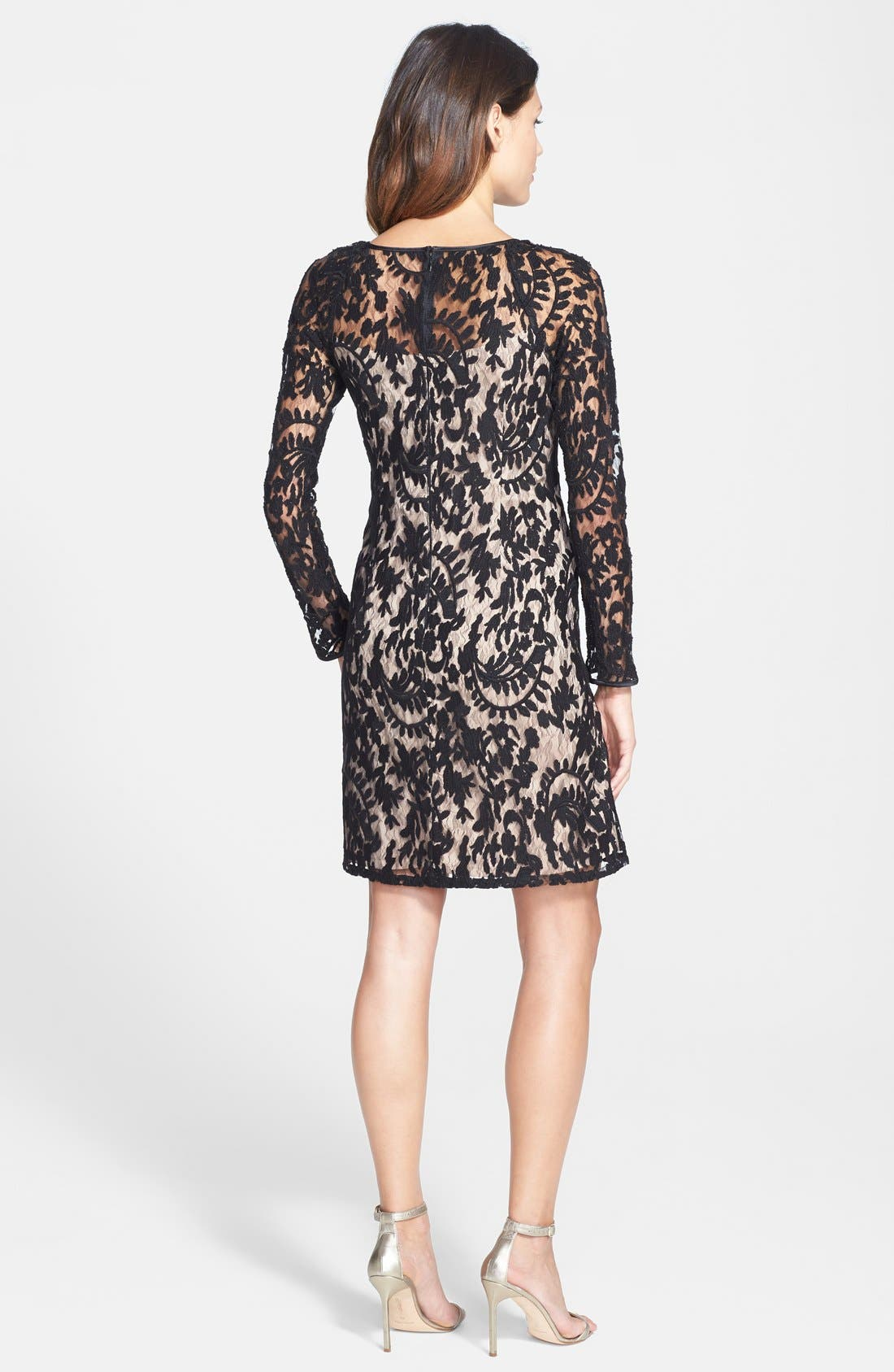 Alternate Image 2  - Adrianna Papell Beaded Embroidered Lace Shift Dress