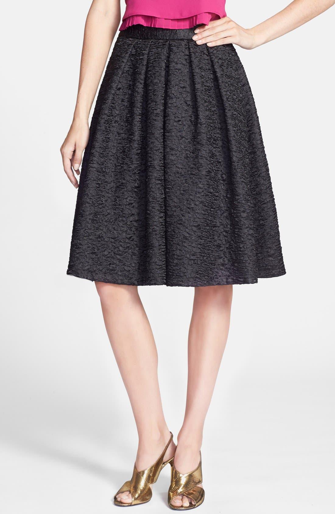 Main Image - ASTR Textured Pleat Skirt