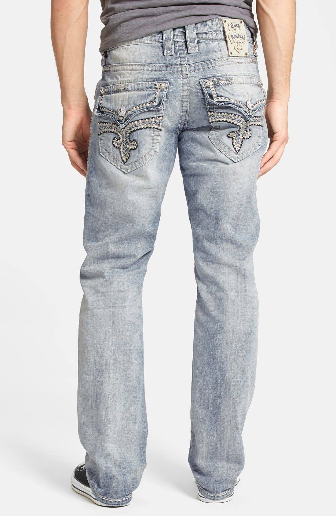 Alternate Image 1 Selected - Rock Revival 'Humfrey' Straight Leg Jeans (Light Blue)