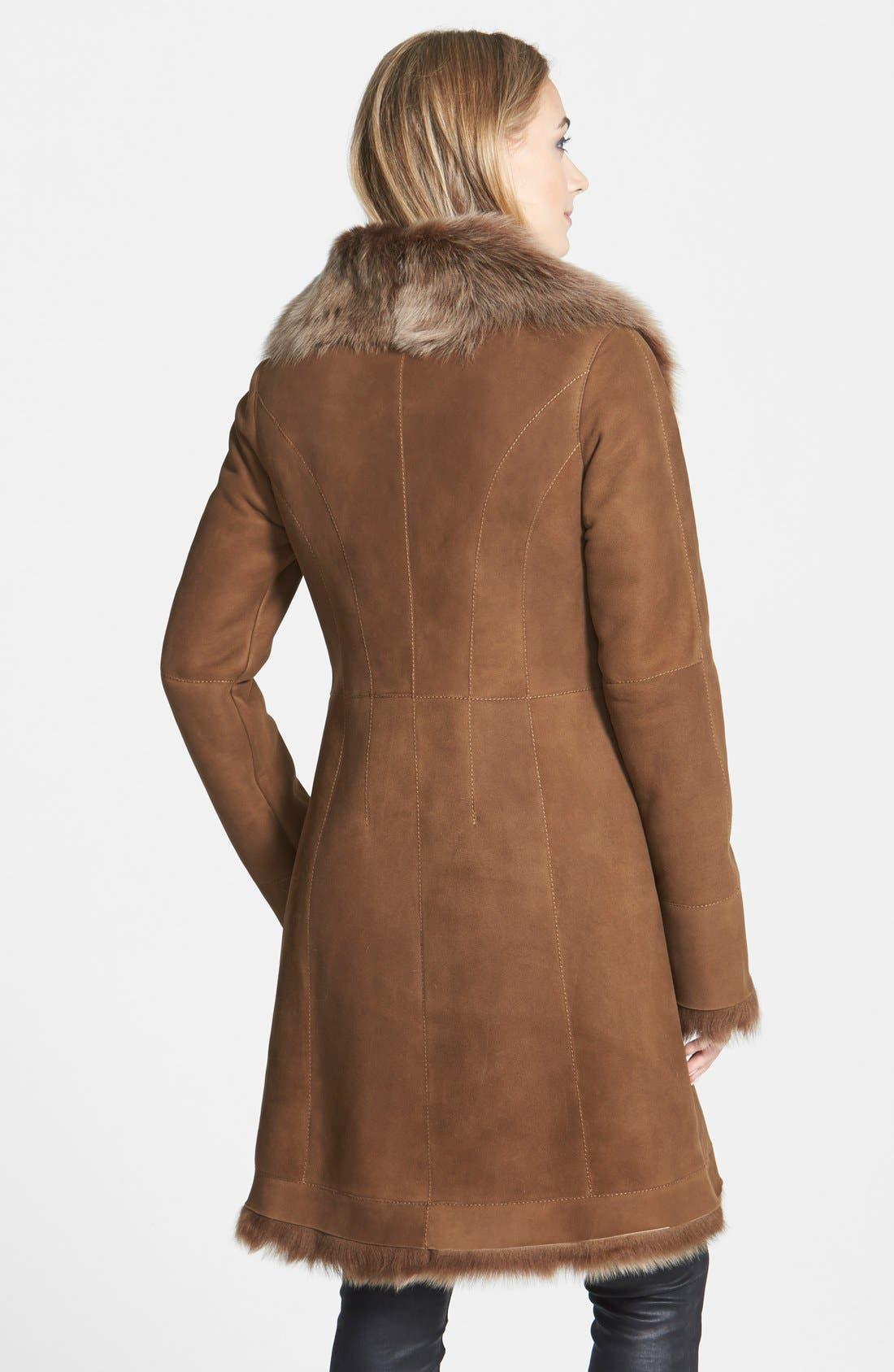 Alternate Image 2  - HIDESOCIETY Envelope Collar Genuine Toscana Shearling Coat