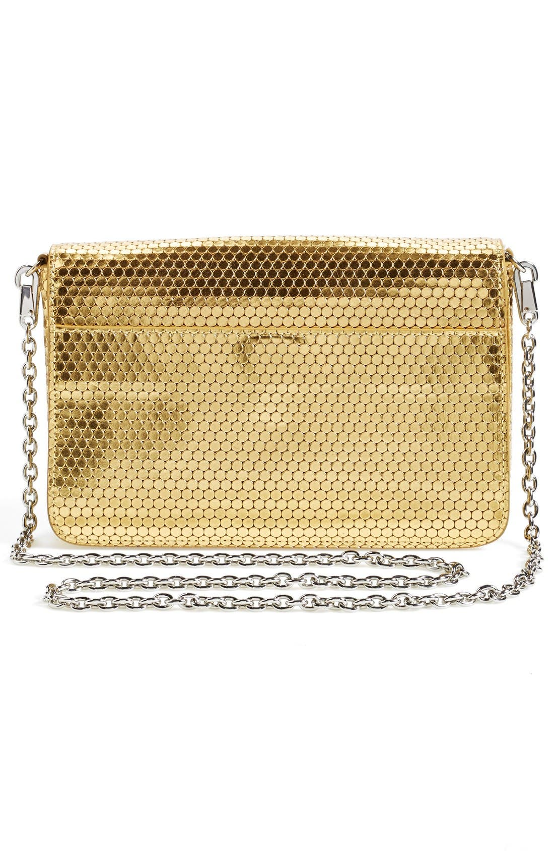 Alternate Image 3  - KENZO 'Raindrop' Metallic Leather Shoulder Bag