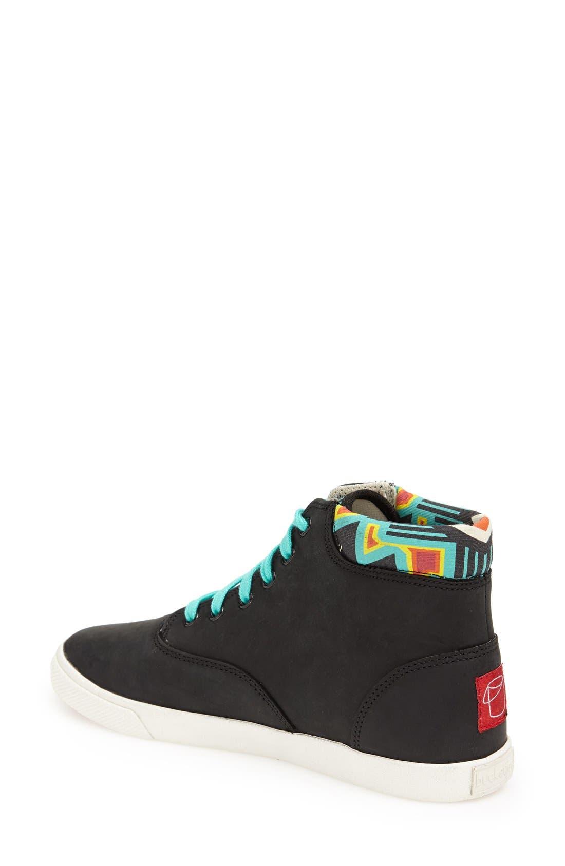 Alternate Image 2  - BucketFeet 'Archer B' Mid Top Leather Sneaker (Women)