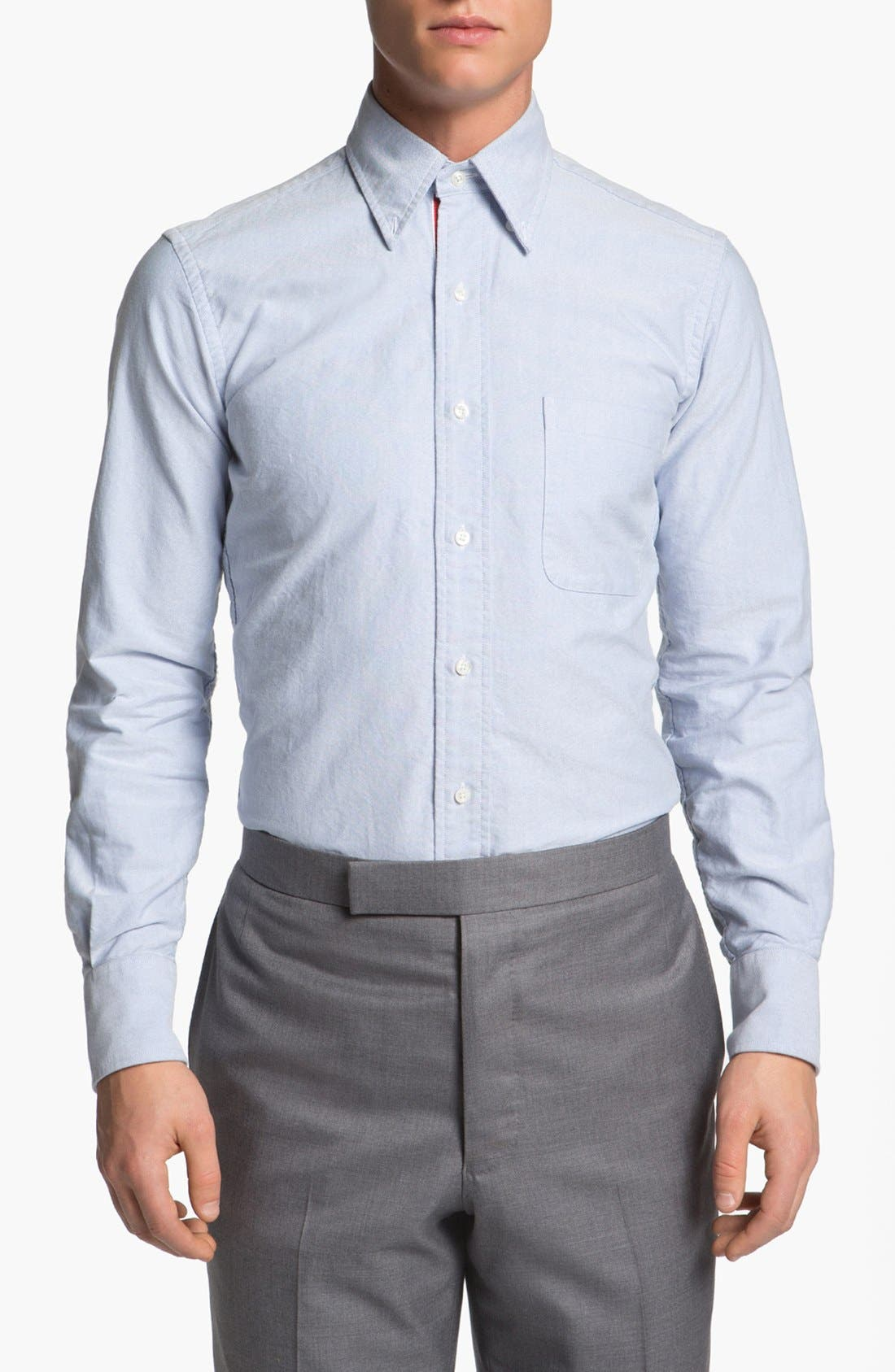Alternate Image 1 Selected - Thom Browne Oxford Shirt with Signature Placket