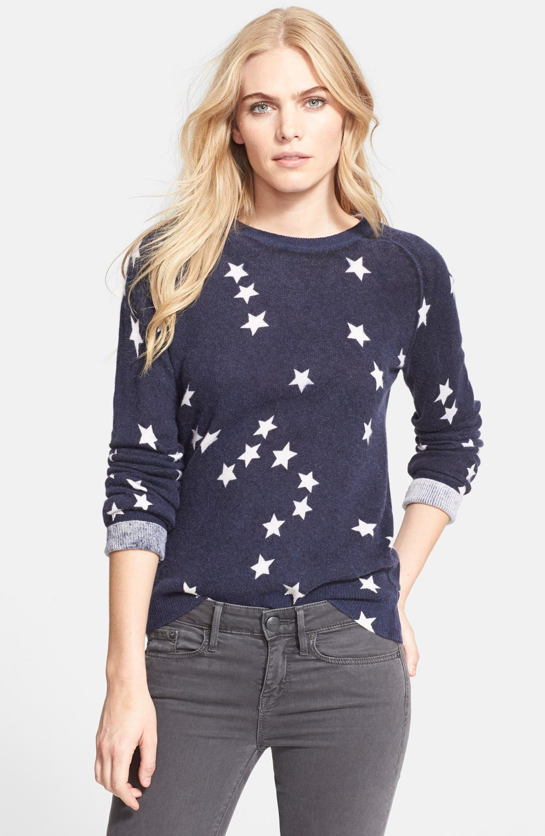 Alternate Image 1 Selected - Equipment 'Sloan' Star Pattern Cashmere Sweater