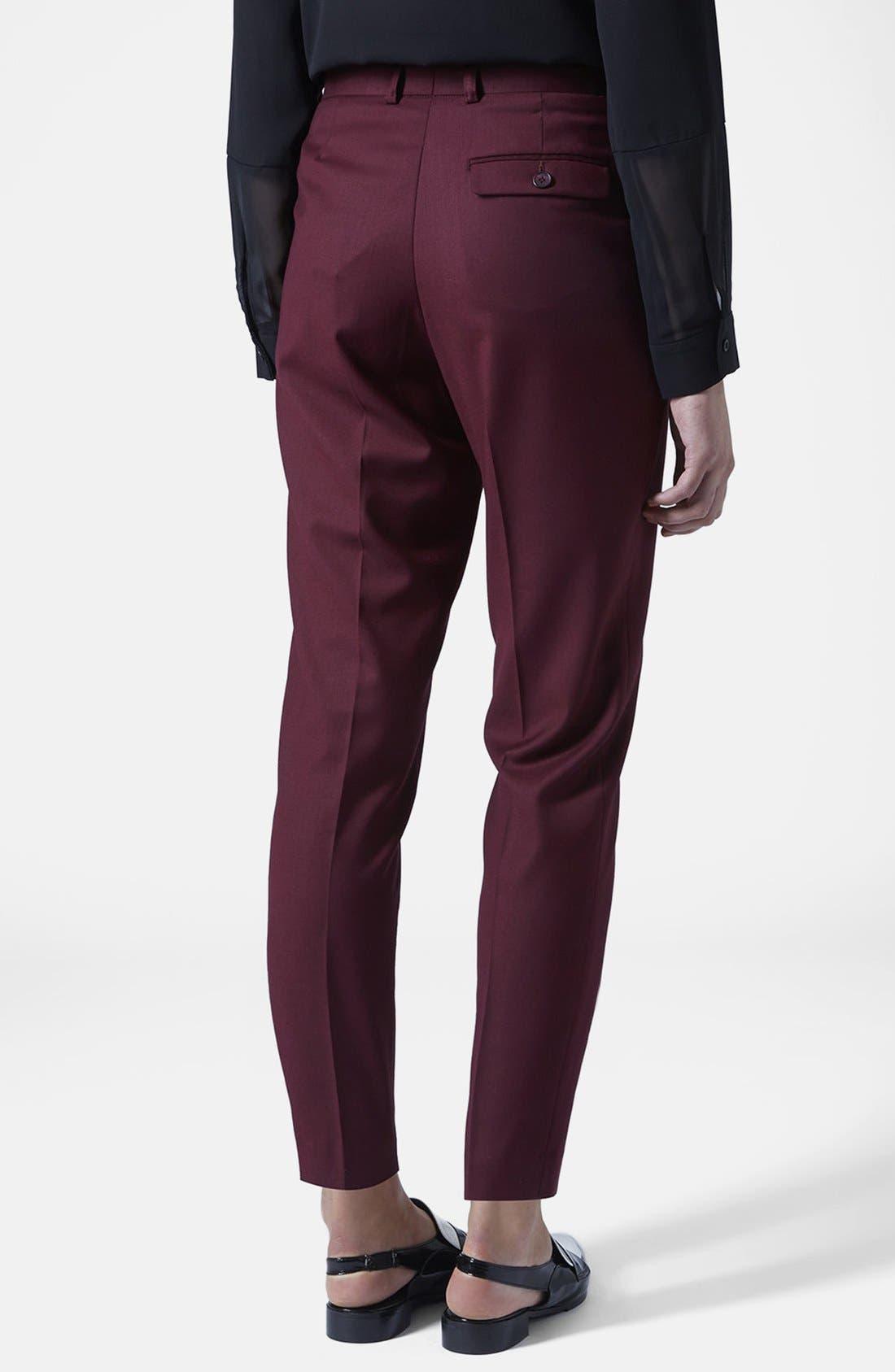 Alternate Image 2  - Topshop Premium Suit Trousers