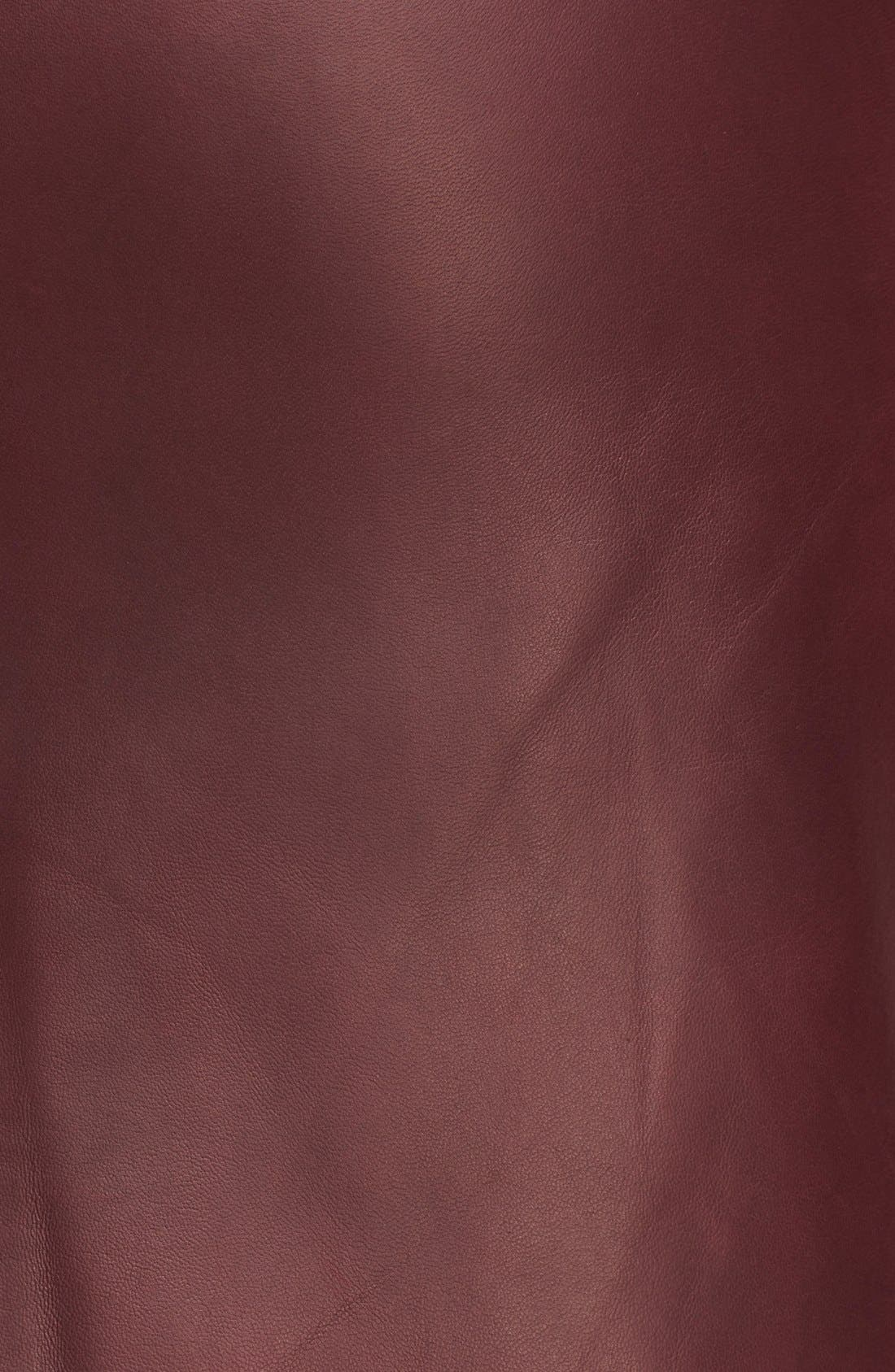 Alternate Image 3  - Alexander McQueen Leather Pencil Skirt