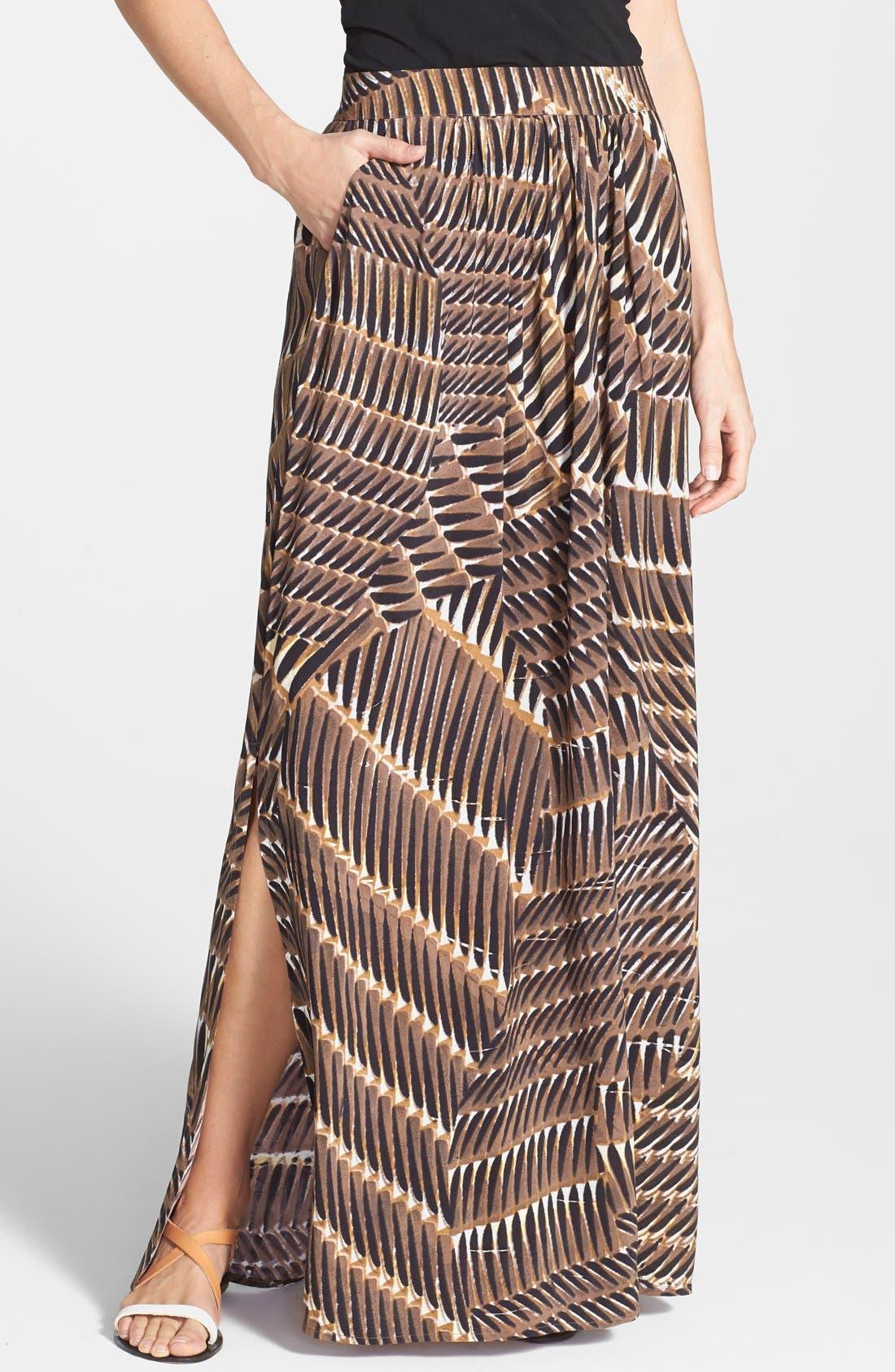 Alternate Image 1 Selected - NIC+ZOE 'Between the Lines' Maxi Skirt (Regular & Petite)