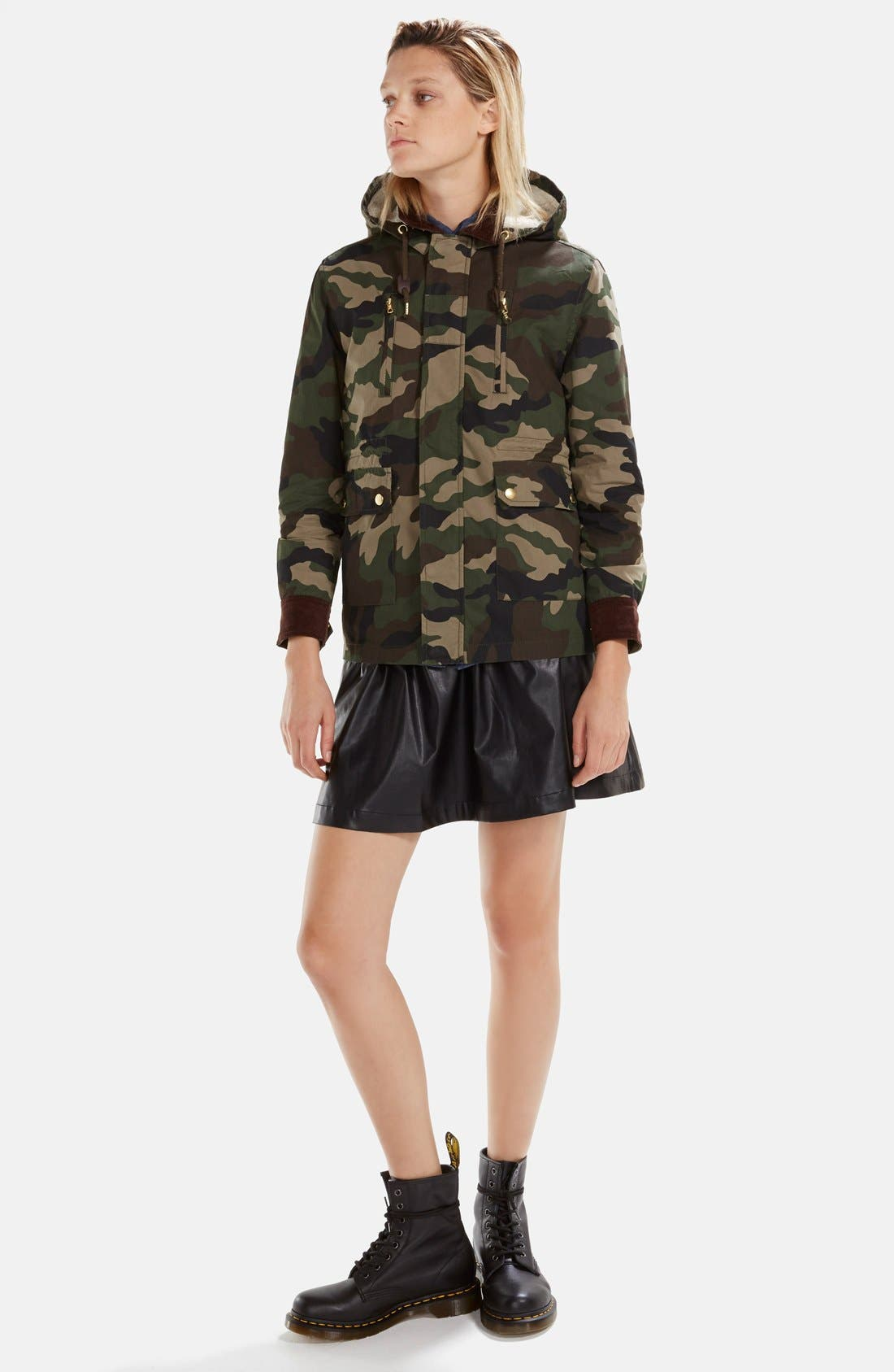 Alternate Image 5  - izzue Hooded Camouflage Jacket (Women)