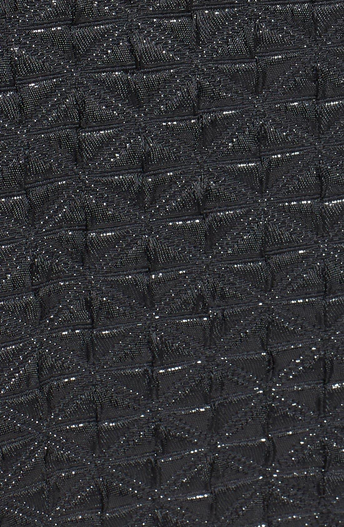 Alternate Image 3  - ASTR Strapless Jacquard Fit & Flare Dress
