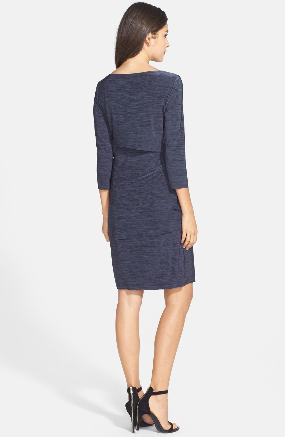 Alternate Image 3  - Tahari Tiered Jersey Sheath Dress (Petite)