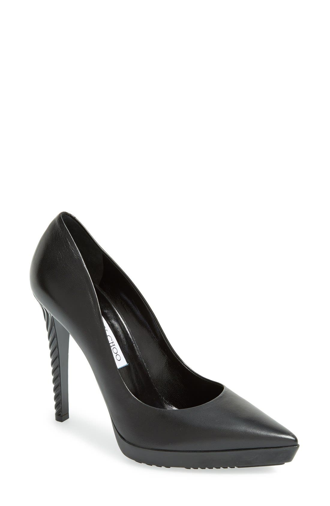 Main Image - Jimmy Choo 'Tisri' Pointy Toe Platform Pump (Women)