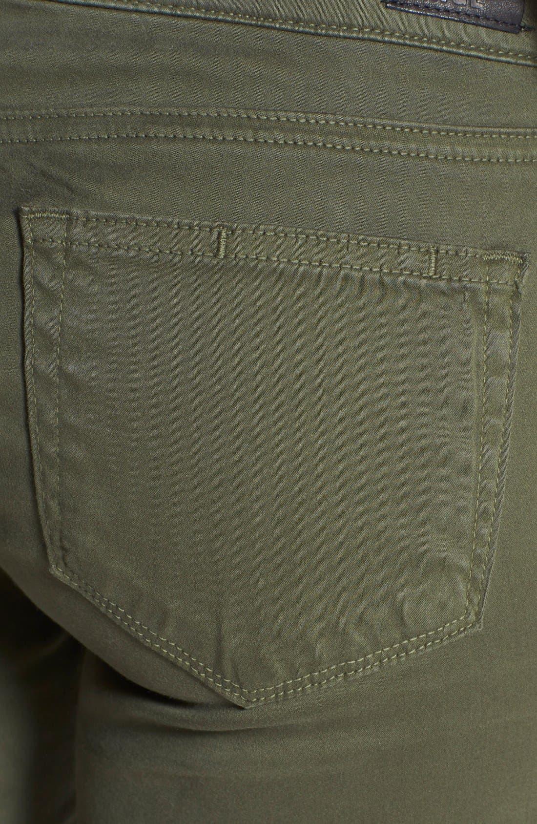 Alternate Image 3  - Paige Denim 'Edgemont' Ultra Skinny Jeans (Pine Green)