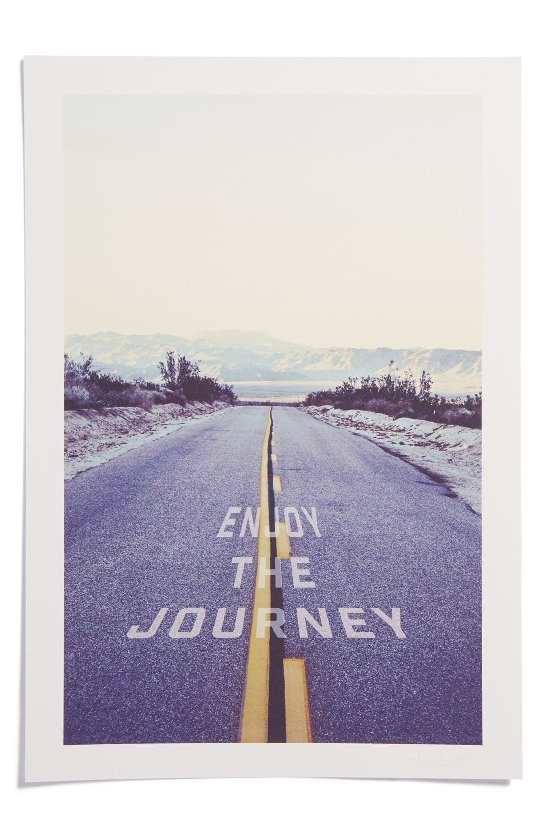 Main Image - Arts District Printing Co. 'Enjoy the Journey' Print