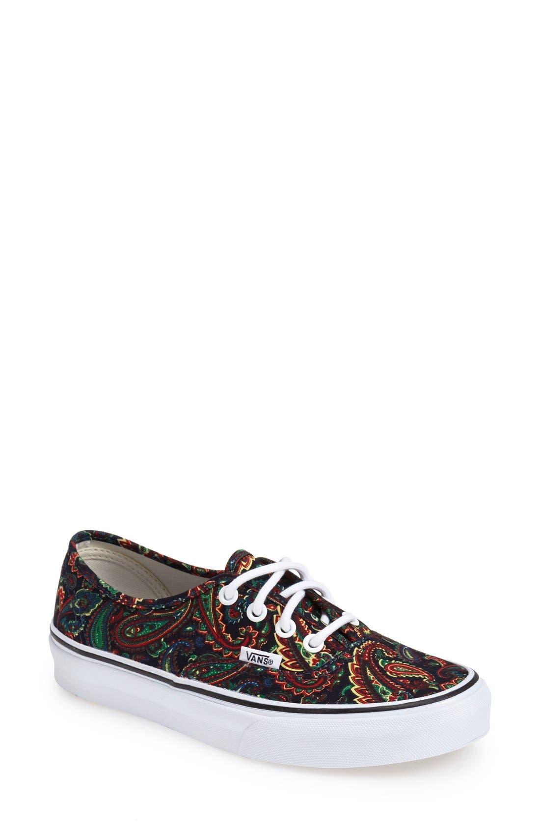 Alternate Image 1 Selected - Vans Authentic Paisley Print Sneaker (Women)