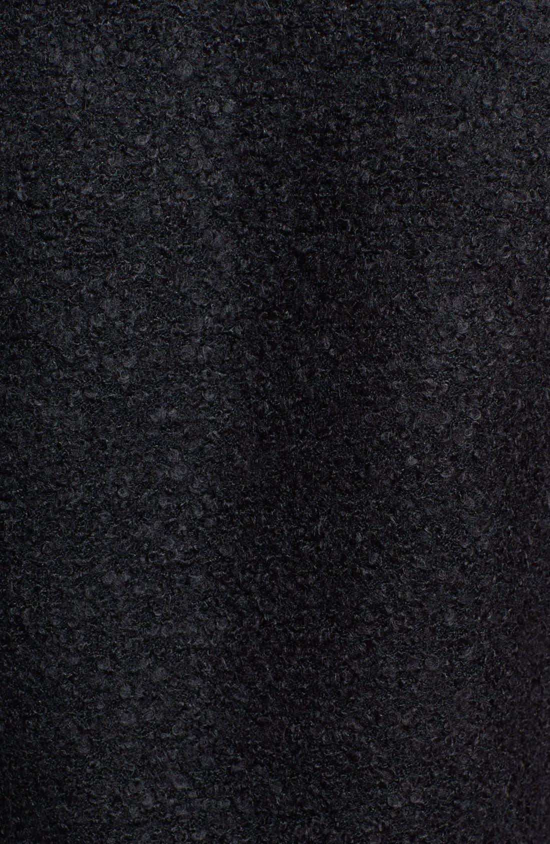 Alternate Image 3  - Caslon® Faux Leather & Bouclé Moto Jacket