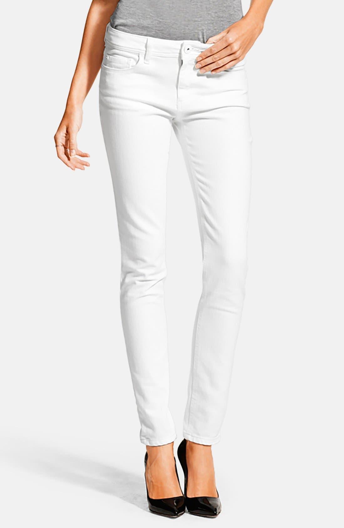 DL1961 'Florence' Instasculpt Skinny Jeans (Milk)