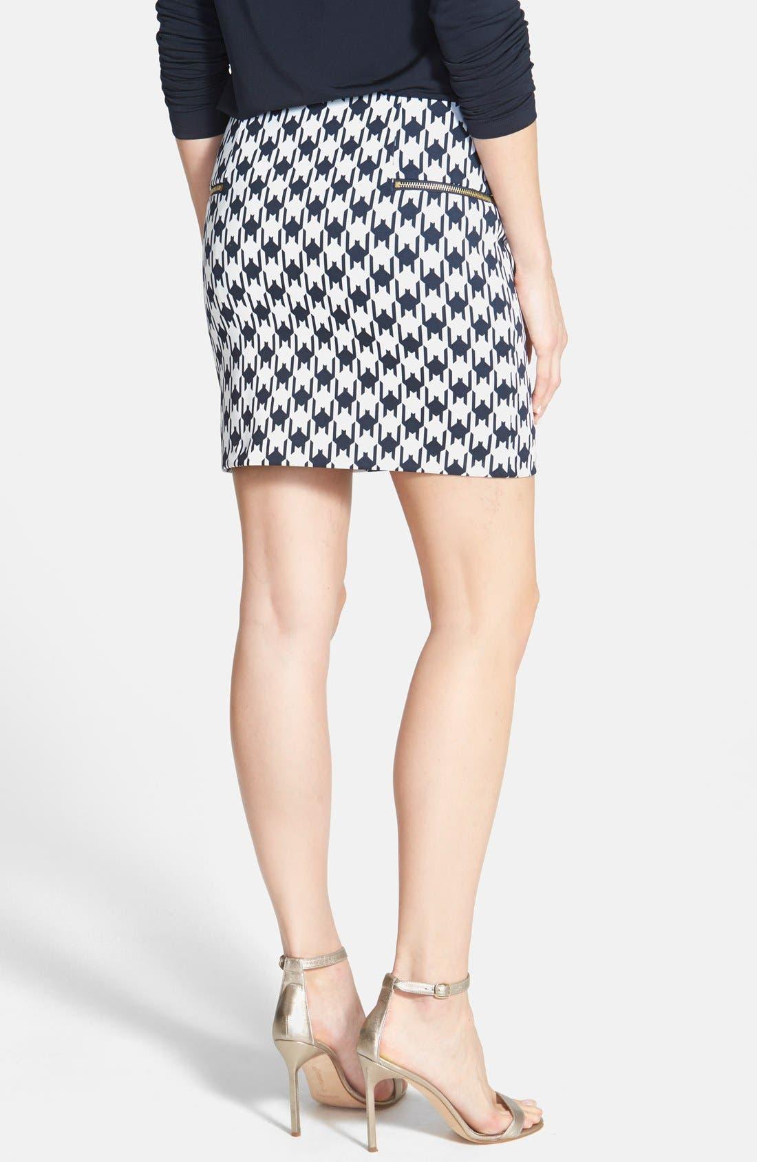 Alternate Image 2  - MICHAEL Michael Kors Print Zip Front Knit Miniskirt