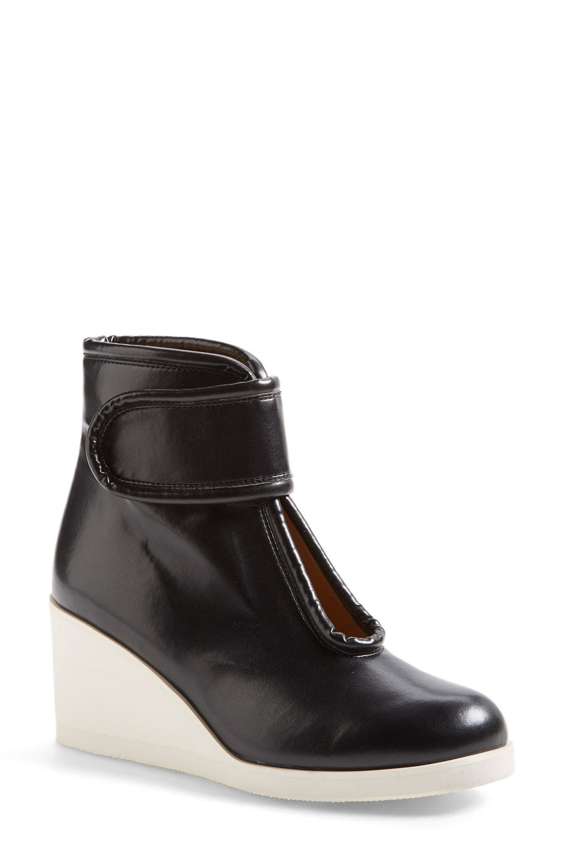 Alternate Image 1 Selected - MM6 Maison Margiela Nappa Leather Wedge Bootie (Women)