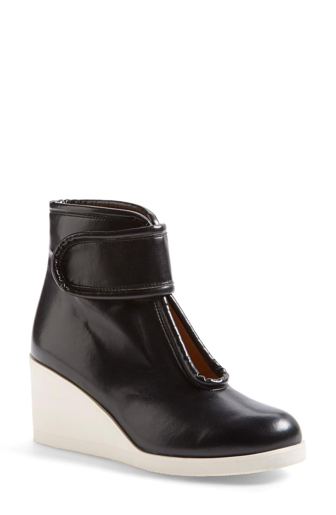 Main Image - MM6 Maison Margiela Nappa Leather Wedge Bootie (Women)