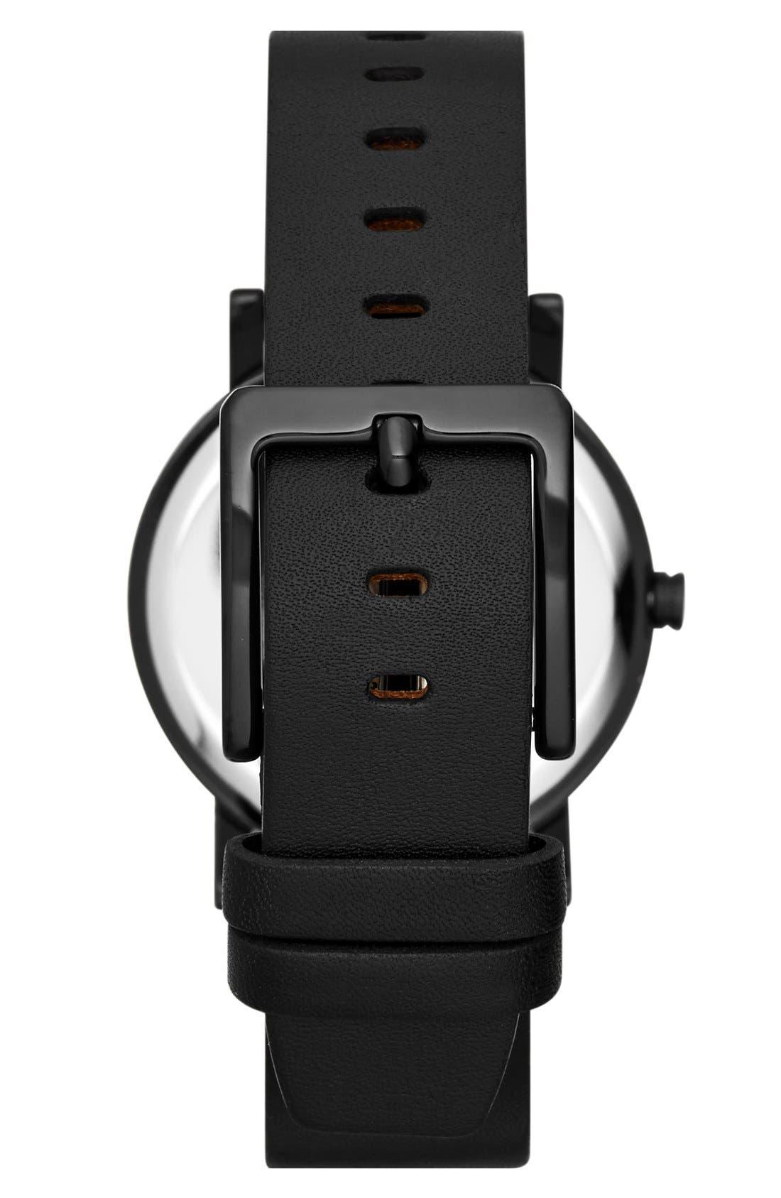 Alternate Image 2  - DKNY 'Soho' Holograph Leather Strap Watch