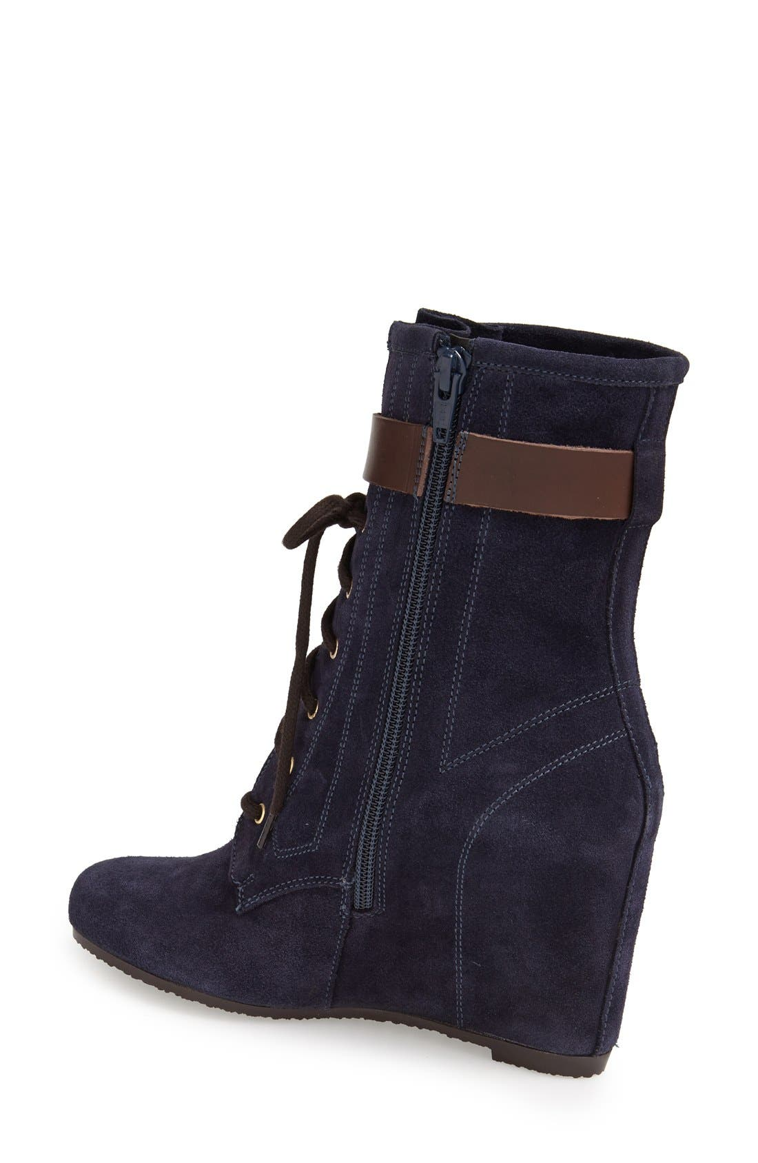 Alternate Image 2  - André Assous Suede Wedge Boot (Women)