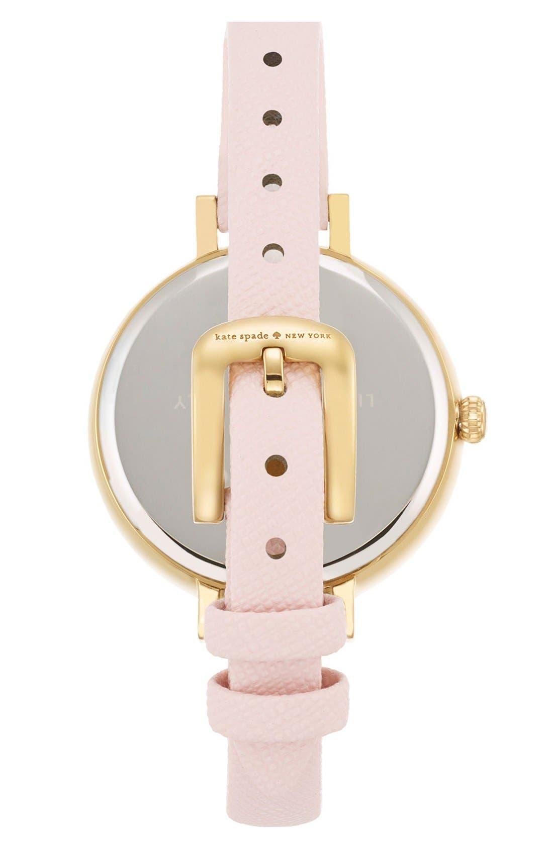 Alternate Image 3  - kate spade new york 'metro' crystal bezel heart dial watch, 34mm