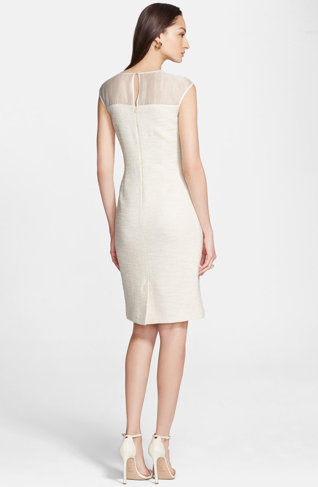Alternate Image 4  - St. John Collection Sparkle Shantung Knit Dress