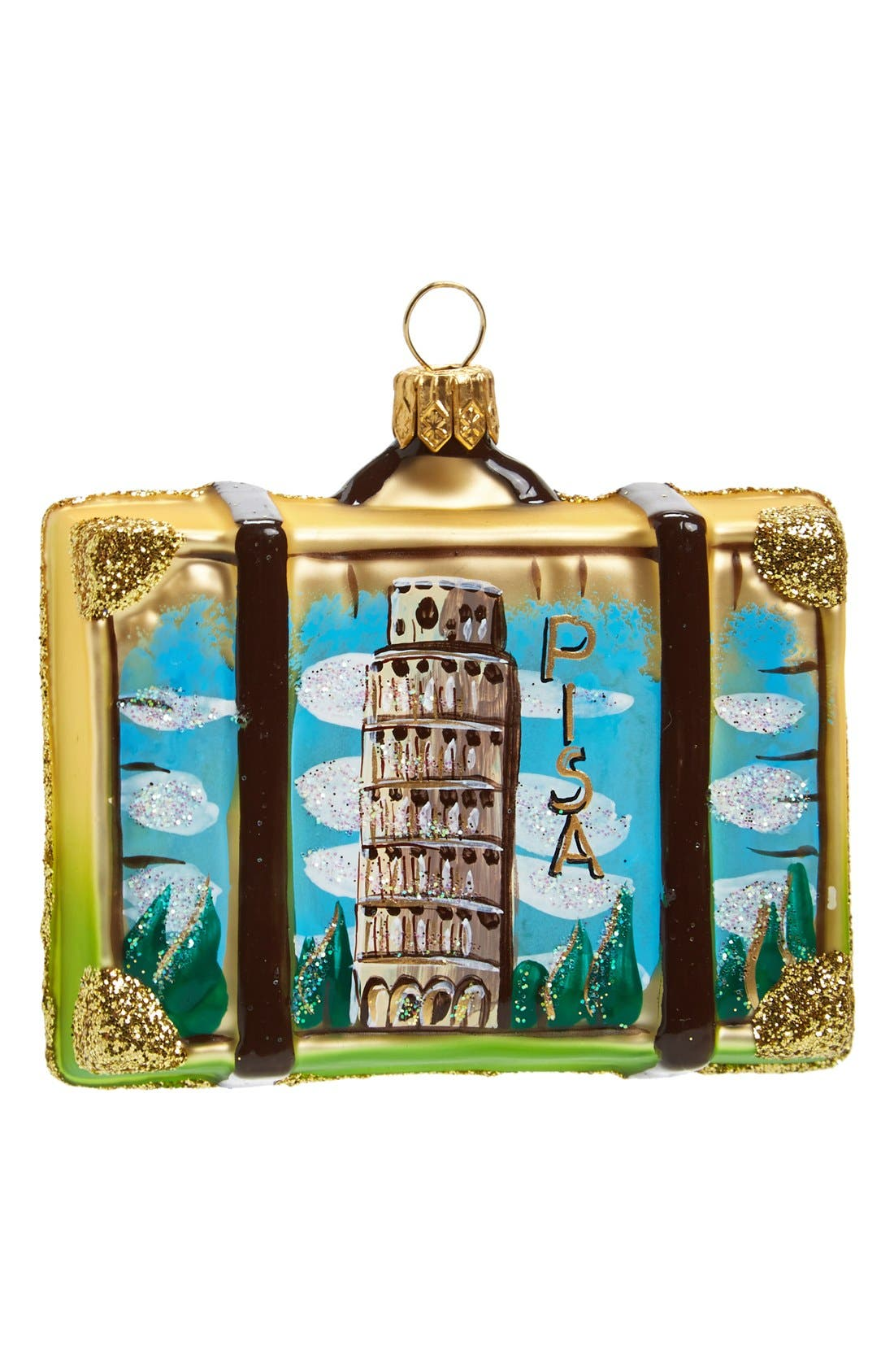 Alternate Image 2  - Nordstrom at Home 'Rome' Glass Suitcase Ornament