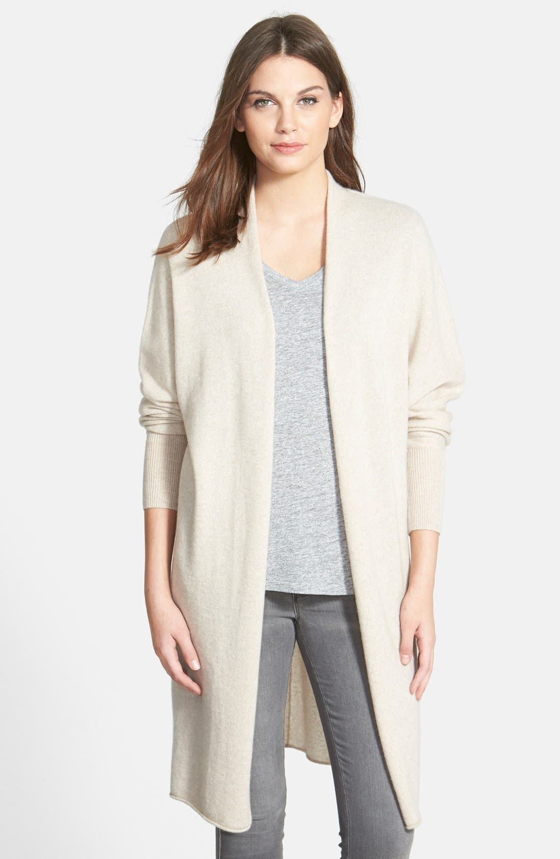 Main Image - Nordstrom Collection Dolman Sleeve Long Cashmere Cardigan