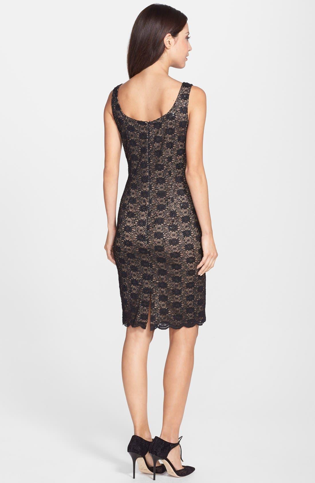 Alternate Image 2  - Alex Evenings Sequin Lace Sheath Dress & Bolero